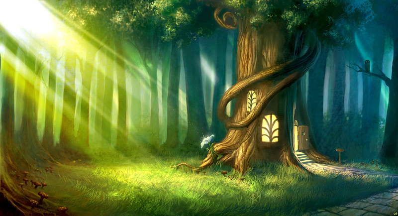 Modlitba Lesa - Magic_Forest_by_camilkuo