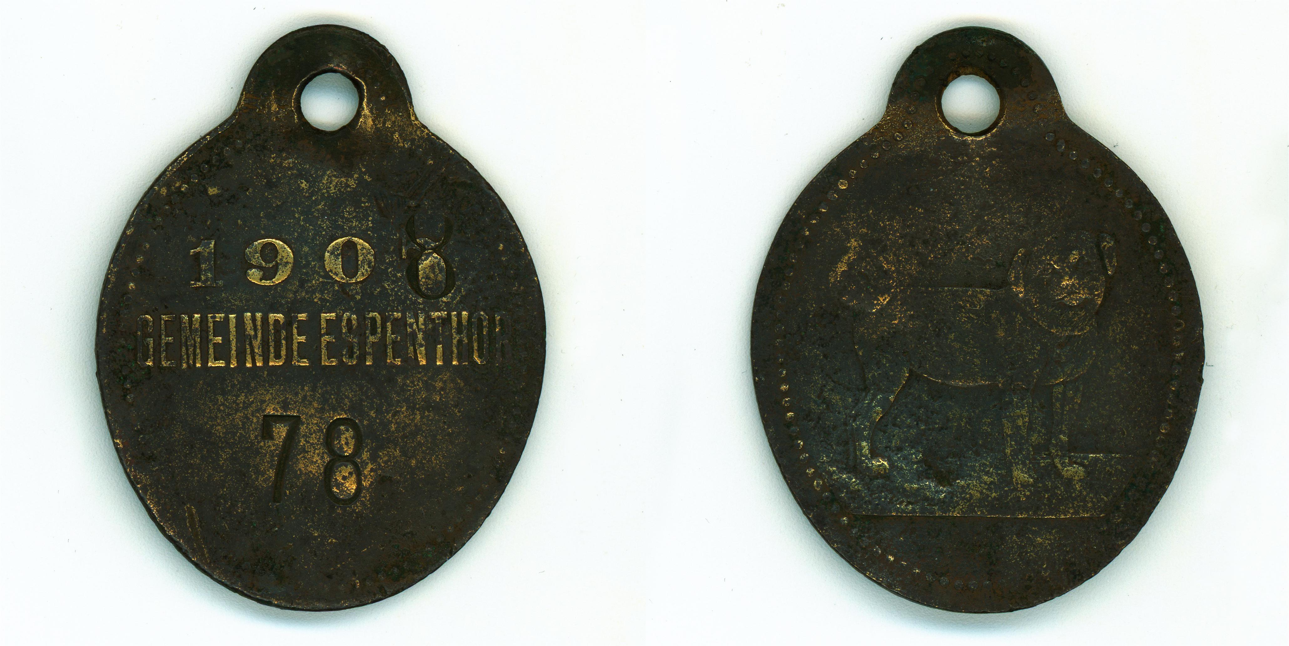 Známka_ESPENTOR_08_1908