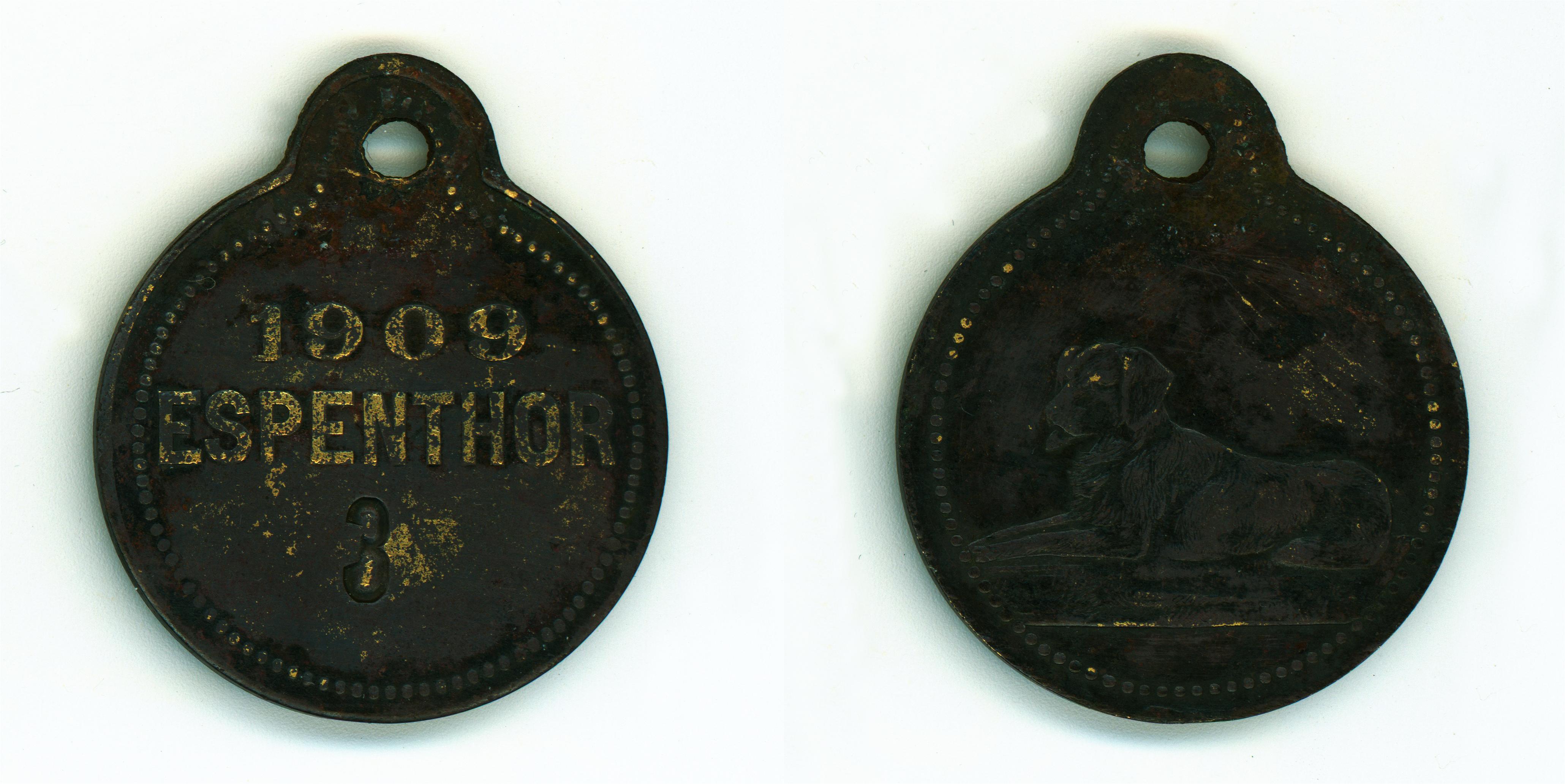 Známka_ESPENTOR_09_1909