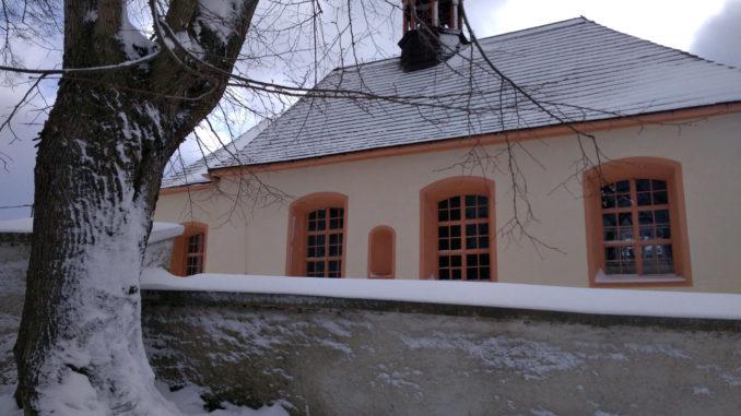 Kostel sv. Kateřiny Olšová Vrata - zima